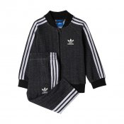 Adidas Kids I Superstar FT Tracksuit, Black White