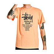 Stussy Tour Pig Dyed T-shirt, Coral
