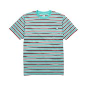Polar Skate Striped Pocket T-shirt, Mint Coral Red