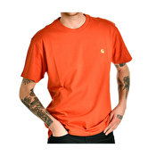 Carhartt S/S Chase T-Shirt, Brick Orange Gold