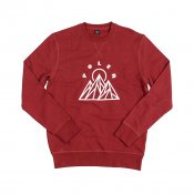 Poler Stuff Mountains Crew, Mud Red