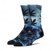HUF Cloudwash Plantlife Crew Sock, Blue