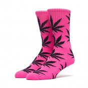 HUF Highlighter Plantlife Crew Sock, Neon Pink