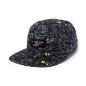 The Quiet Life Wild Wood 5-Panel Camper Hat, Floral