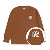 Carhartt Wavy State Sweat, Rum / White