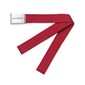 Carhartt Clip Belt Chrome, Blast Red