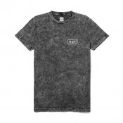 HUF Acid Wash Bar Logo Tee, Black