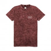 HUF Acid Wash Bar Logo Tee, Red