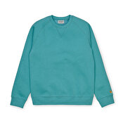 Carhartt Chase Sweat, Frosted TurquoiseGold