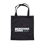 Montana Cotton Bag Typo Logo & Stars, Black