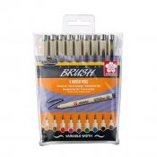 Sakura Pigma Brush Wallet Color 9-set