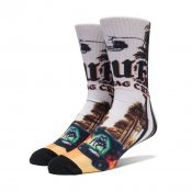 HUF Block Is Hot Crew Sock, Black