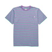Polar Skate Striped Pocket T-shirt, Violet Mint
