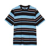 Stussy SS Thomas Stripe Crew, Black