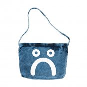Polar Skate Happy Sad Denim Tote Bag, Blue Acid