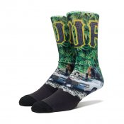 HUF Big Cats Crew Sock, Green