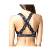 Stussy W Cross Back Crop, Black