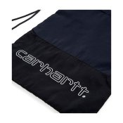 Carhartt Terrace Drawstring Bag, Black Dark Navy Bottle Green