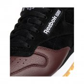 Reebok CL Leather LS Shoes, Black Burnt Sienna