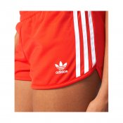 Adidas Originals W 3-Stripes Shorts, Red