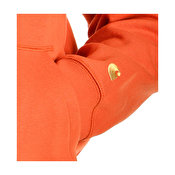 Carhartt Hooded Chase Sweat, Brick Orange Gold
