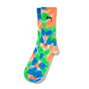 Stussy Leary Marl Socks, Orange Blue