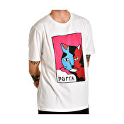 Parra earl the cat t-shirt, White