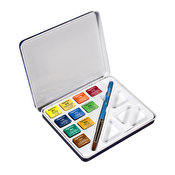 Daler Rowney Aquafine Watercolour Travel Tin, 10 pcs