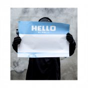 Hello My Name Is stickers XXL A2, 10-pack