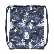 Adidas Dark Floral Gymsack, Night Indigo