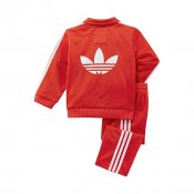 Adidas Kids Firebird Track Suit, Vivid Red
