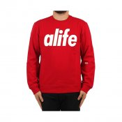ALIFE Core Logo Crewneck, True Red