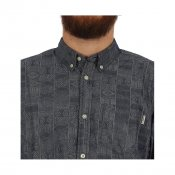 Carhartt LS Dustin Shirt, Blue Blue Rinsed