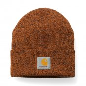 Carhartt Scott Watch Hat, Dark Navy Carhartt Orange
