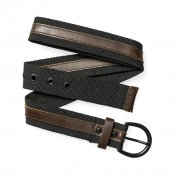 Carhartt Wood Belt, Black Darkbrown