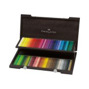 Faber-Castell Polychromos Pencils 120 Set, Wooden cabinet