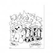 Graffiti Coloring Book 3