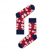 Happy Socks Flower, Navy Red