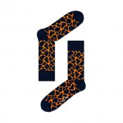 Happy Socks Giraffe, Black Orange