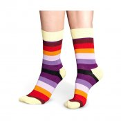 Happy Socks Stripe, Yellow Purple