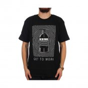 KRINK Get To Work Tee, Black