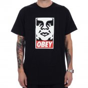 Obey Icon Face Tee, Black