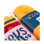 Parra Crew Socks, Gold Yellow