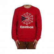 Reebok F Starcrest Crew Neck, Red