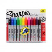 Sharpie Brush Tip, 12set