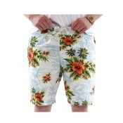 The Quiet Life Hawaiian Beach Shorts, White