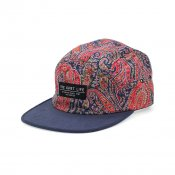 The Quiet Life Paisley Half Moon 5-Panel, Red Navy