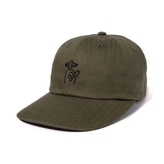 The Quiet Life Shhh Polo Hat, Olive