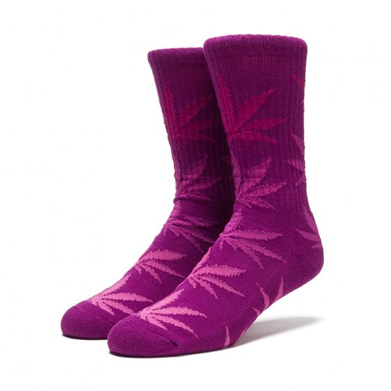 HUF Fader Plantlife Crew Sock, Purple