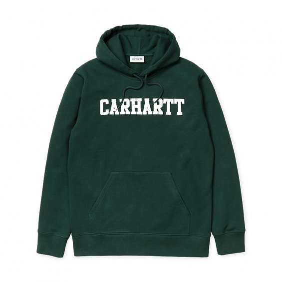 Carhartt Hooded College Sweat, Parsley White